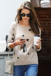 Alessandra Ambrosio - Out for Coffee in Brentwood, April 2015