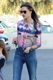 Alessandra Ambrosio - Out in Santa Monica, April 2015