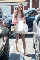 Alessandra Ambrosio Street Style - Brentwood Country Market, April 2015