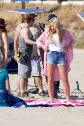 Alli Simpson - films a Music Video on Santa Monica Beach, April 2015