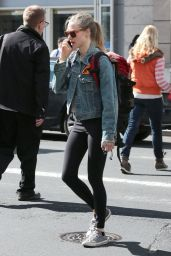 Amanda Seyfried in Leggings - Out in NYC, April 2015