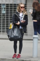 Amanda Seyfried in Tights - Out in NYC, April 2015