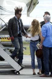 Amber Heard at Brisbane Airport, April 2015