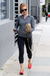 Amy Adams in Leggings - After Workout in Beverly Hills, April 2015