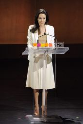 Angelina Jolie - Speaks Onstage During the Women in The World Summit Held in New York