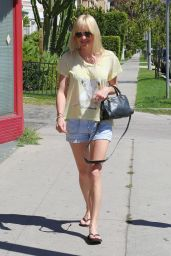 Anna Faris Leggy in Shorts - Out in LA, April 2015