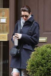 Anne Hathaway - Leaving Her Home in New York City, April 2015