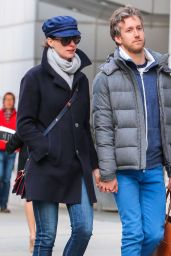 Anne Hathaway With Her Husband - Out in NYC, April 2015