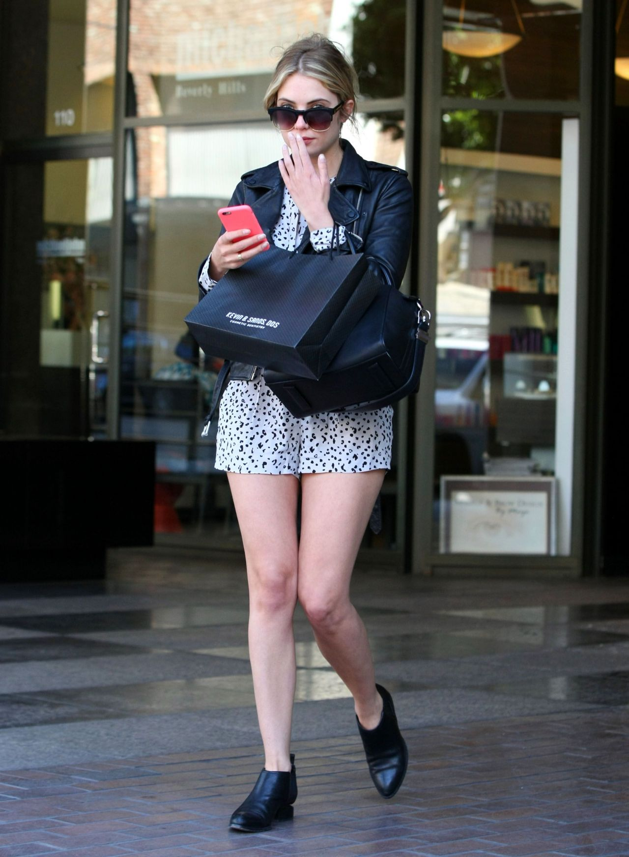 Ashley Benson Shows Off Her Legs in a pair of short shorts - Beverly Hills, April 2015