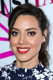 Aubrey Plaza - JustFab Ready-To-Wear Launch Party in West Hollywood