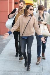 Aubrey Plaza Street Style - Out in Beverly Hills, April 2015