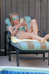 Audrina Patridge in a Bikini - Poolside in Los Angeles, April 2015