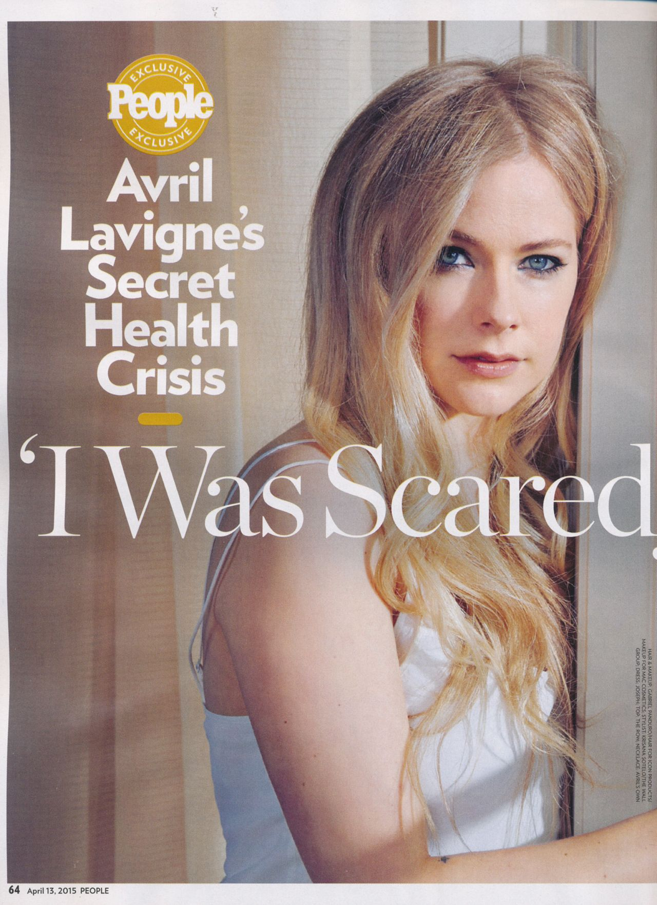 Avril Lavigne People Magazine April 2015 Issue