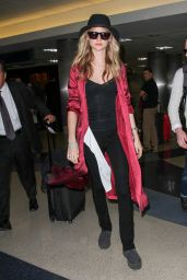 Behati Prinsloo at LAX Airport in Los Angeles, April 2015
