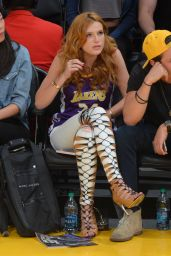Bella Thorne With Boyfriend - Lakers Game at Staples Center, April 2015