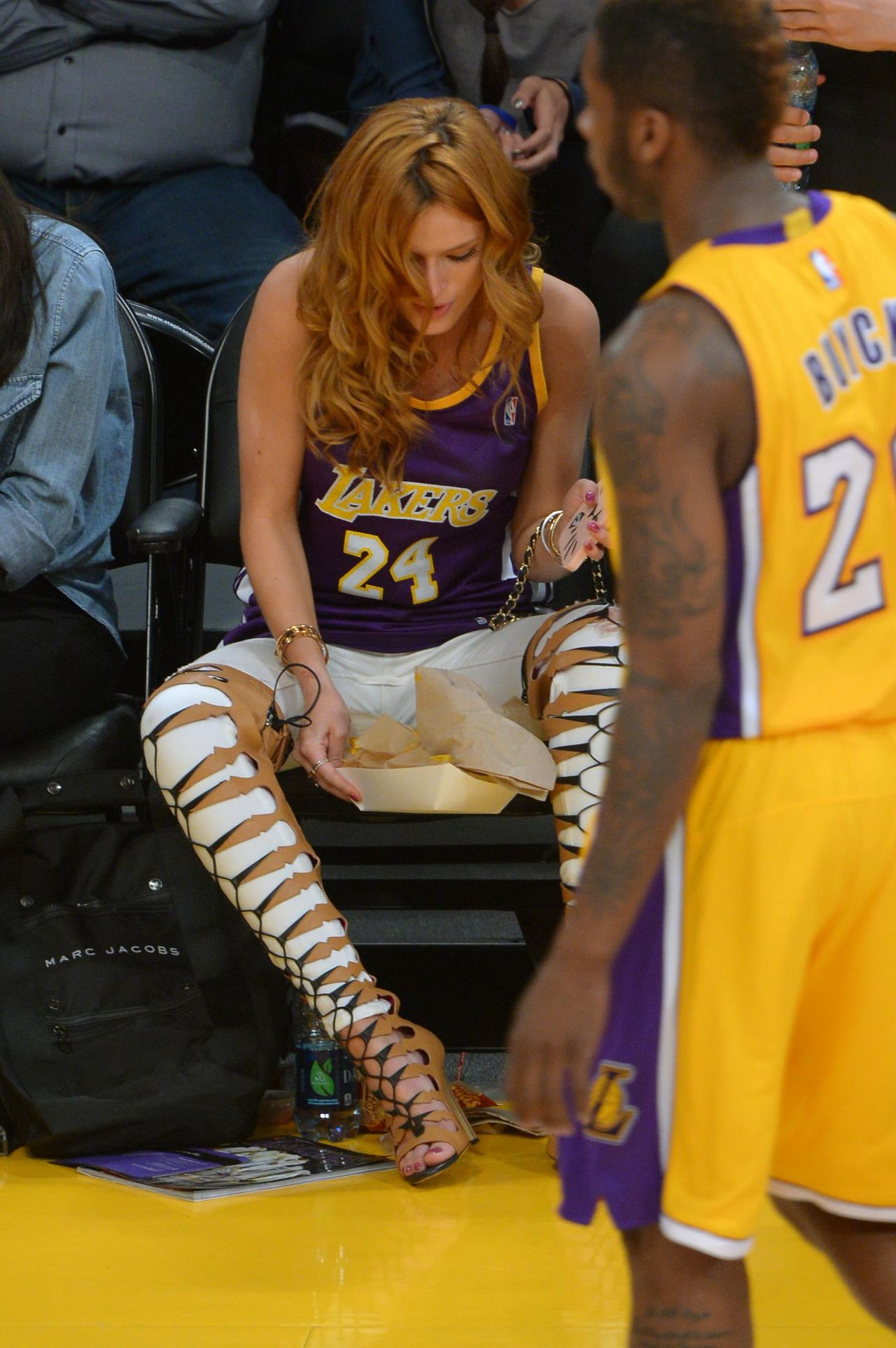 - Bella at Staples Thorne Lakers Game Boyfriend With