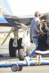 Beyoncé - Boarding a Private jet in New York City, April 2015
