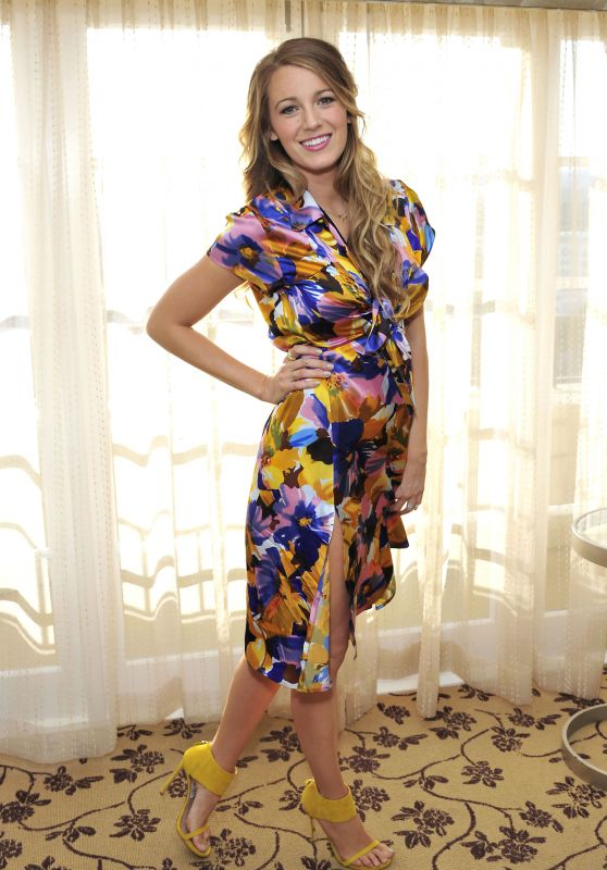 Blake Lively - Getting Ready to Tape an Interview in Los Angeles
