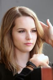 Bridgit Mendler - On the Set of Extra in Los Angeles, March 2015