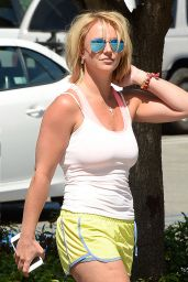 Britney Spears in Shorts - Out in Los Angeles, April 2015