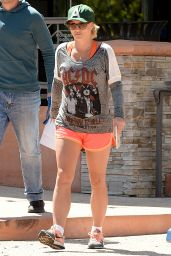 Britney Spears in Sport Shorts - Out in Thousand Oaks, April 2015