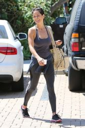 Brooke Burke in Leggings - Out in Malibu, April 2015