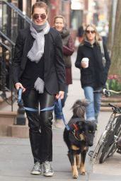 Brooke Shields - Picking up Dog Poop in New York City, April 2015
