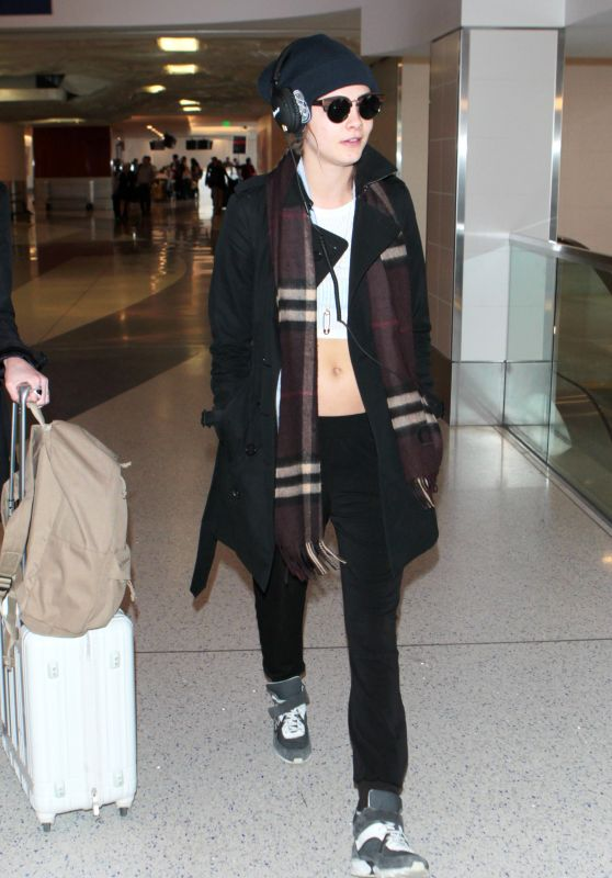 Cara Delevingne at LAX Airport, April 2015