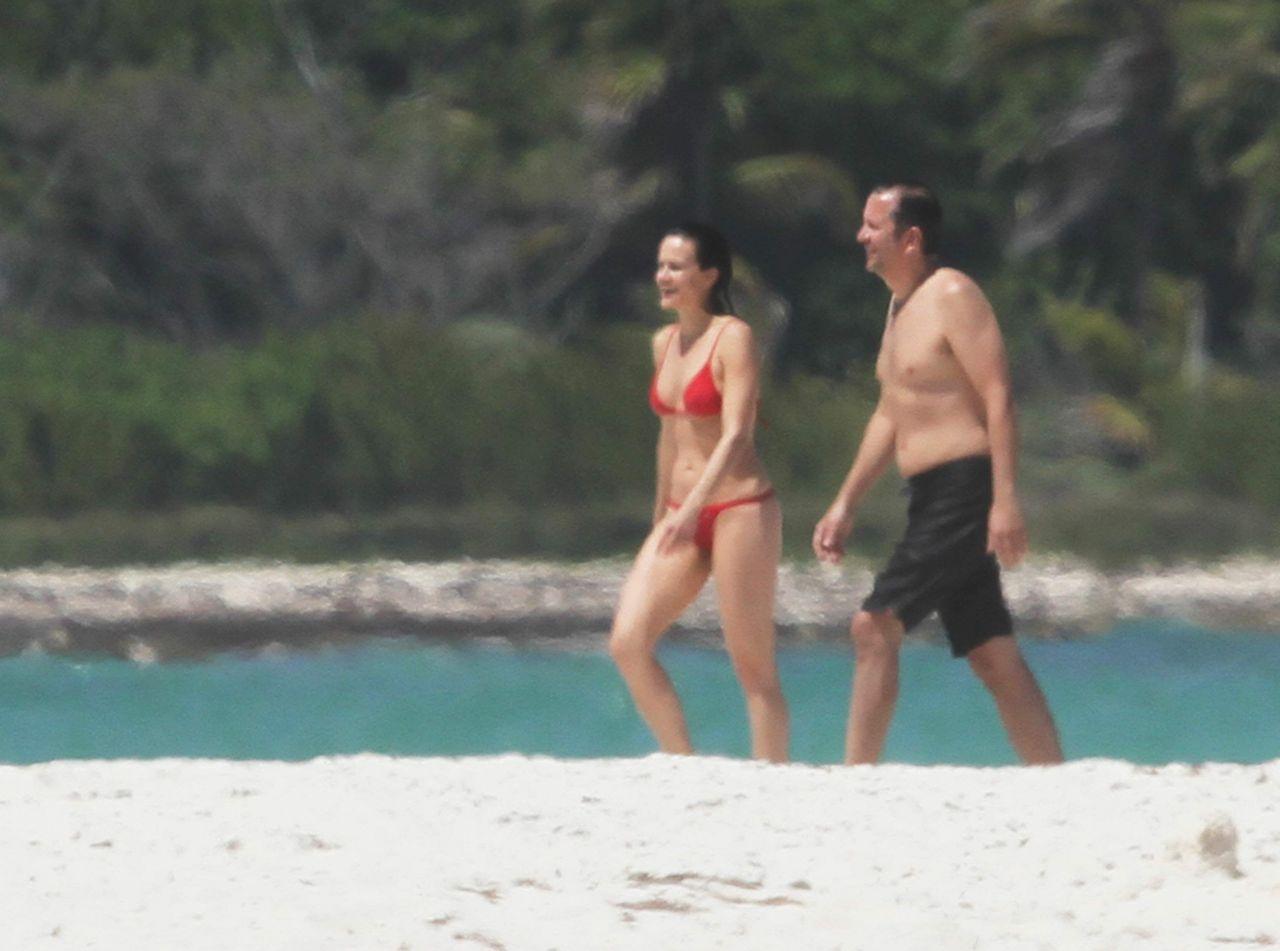 Carla Gugino In A Red Bikini Cancun April 2015