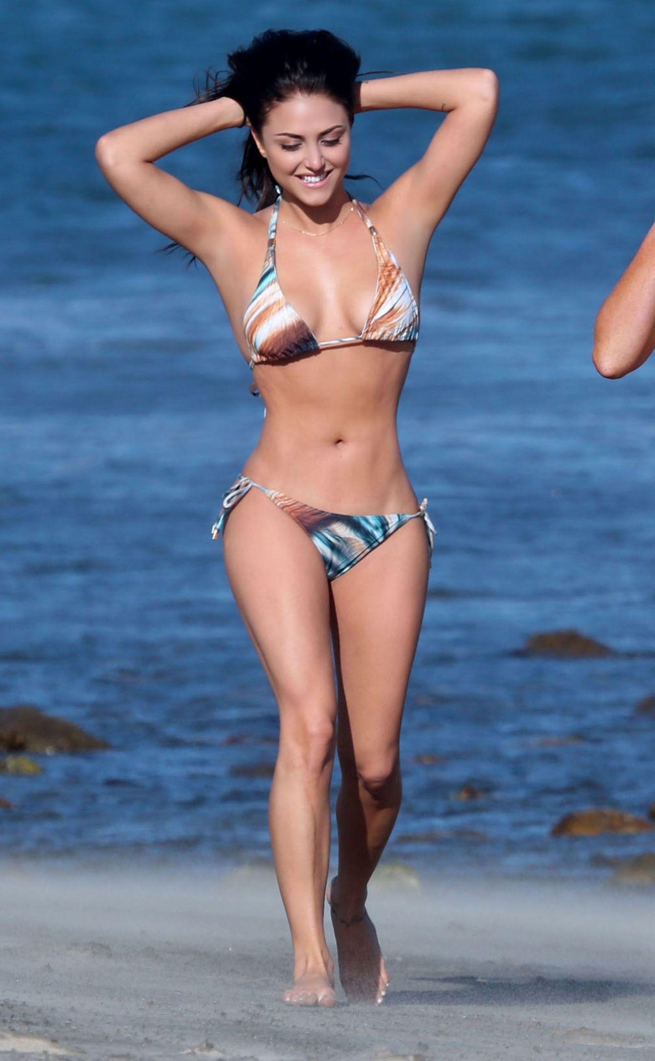 Cassie Scerbo Hot in Bikini - at a Beach in Malibu - April
