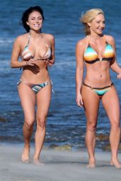 Cassie Scerbo Hot in Bikini - at a Beach in Malibu - April 2015