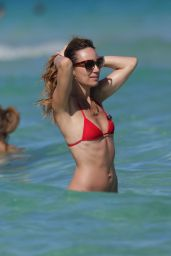Catt Sadler in Red Bikini at a Beach in Miami - April 2015
