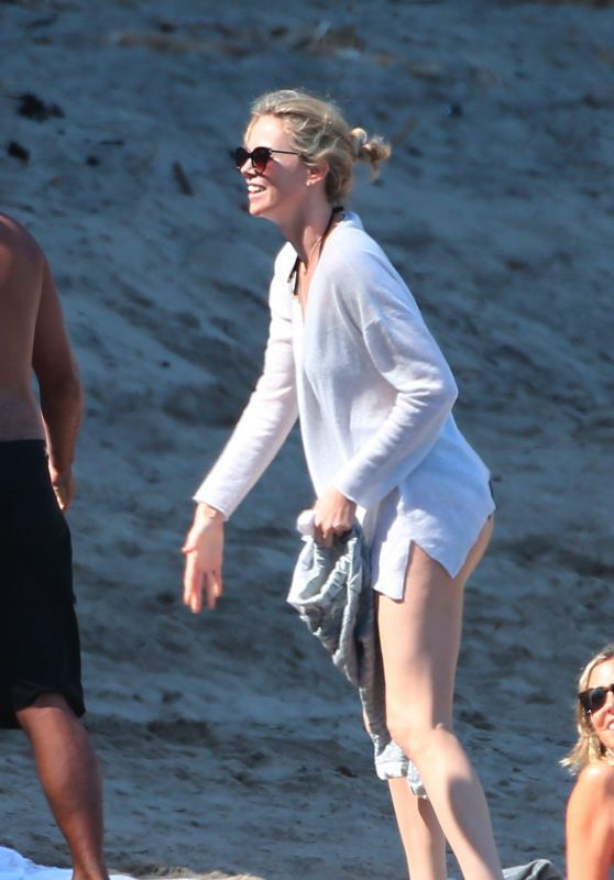 Charlize Theron - On the Beach in Malibu - April 2015