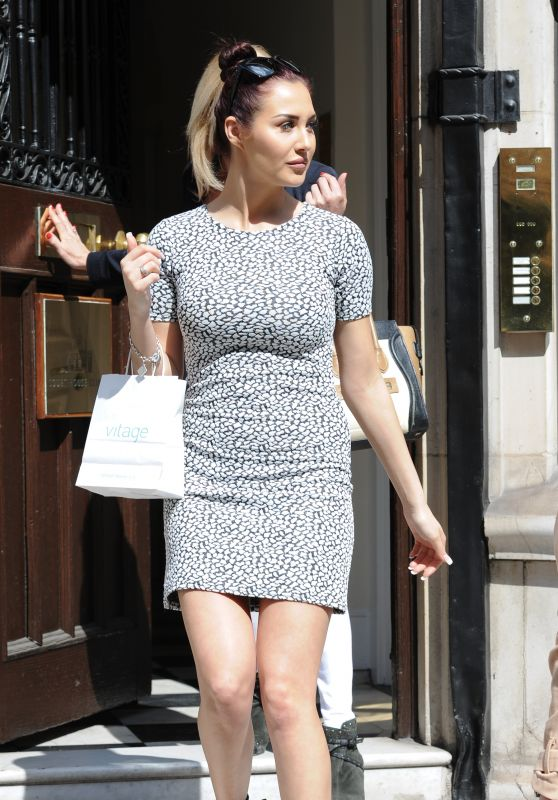 Chloe Goodman Shows Off Her Legs - Court House Clinic in London, April 2015