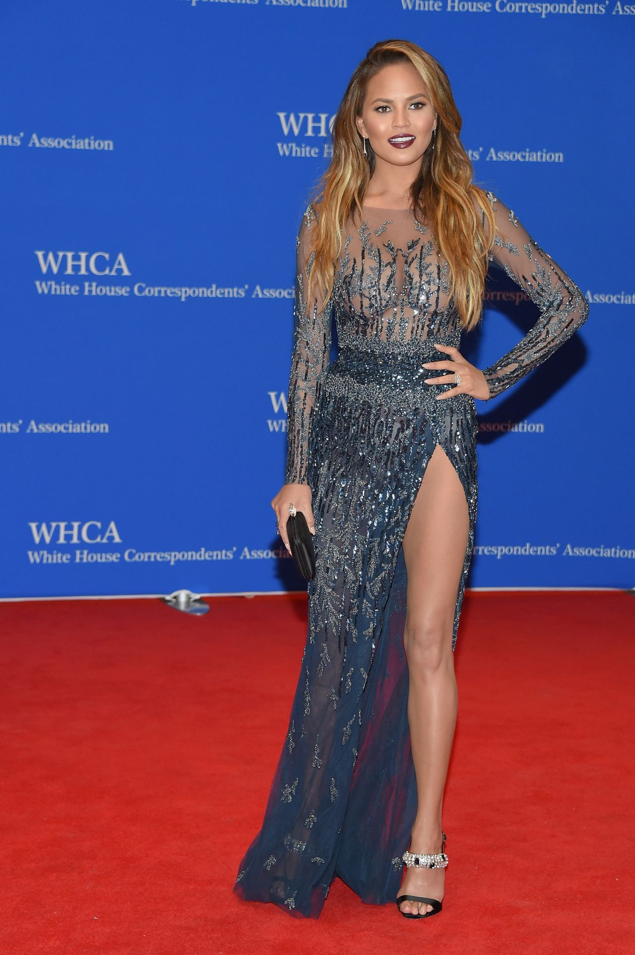 Chrissy Teigen – 2015 White House Correspondents Dinner in ...
