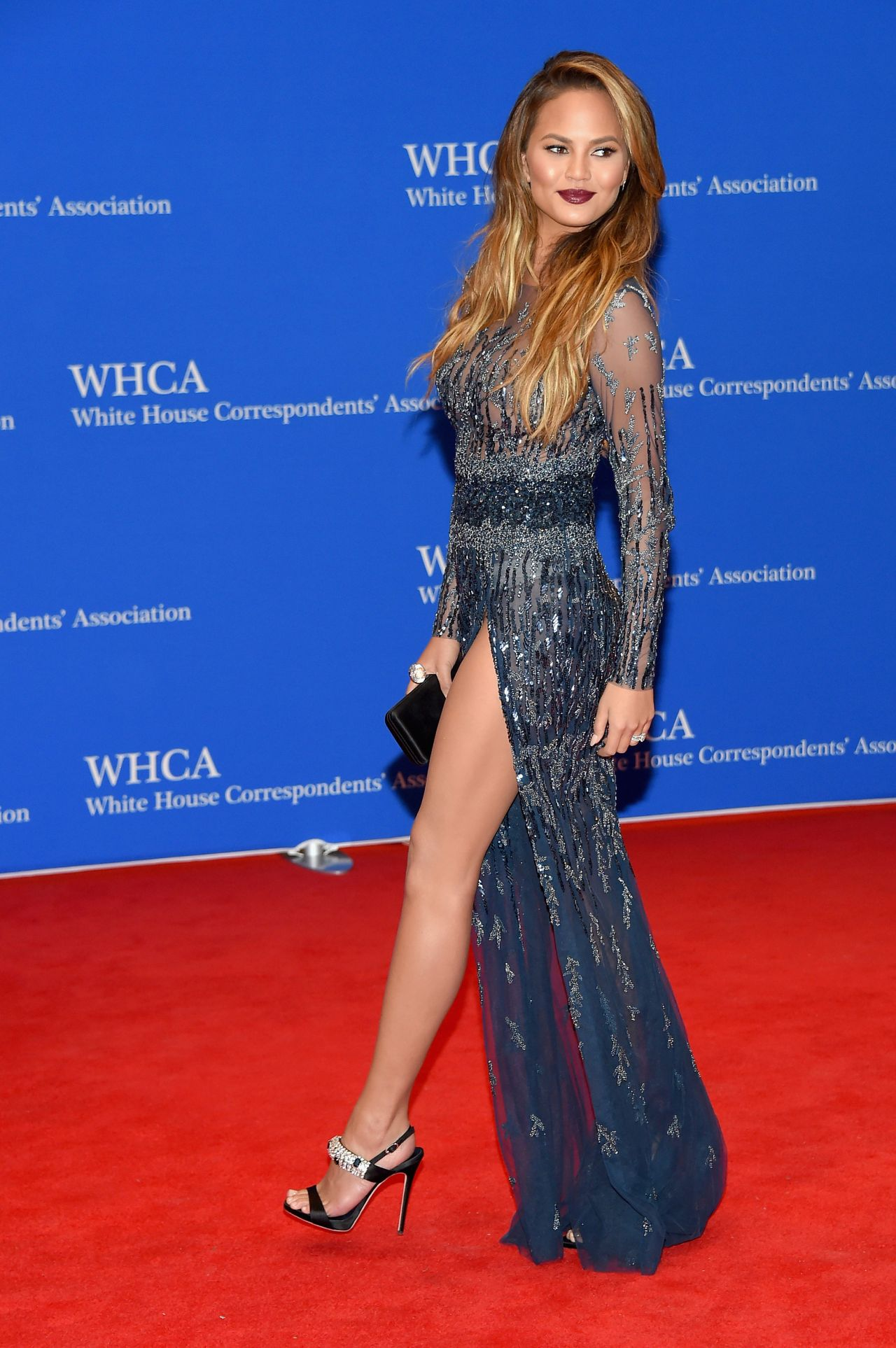 Chrissy Teigen 2015 White House Correspondents Dinner In