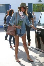 Chrissy Teigen Leggy in Jeans Shorts - Out in West Hollywood, April 2015