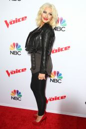Christina Aguilera - Arrives for NBC