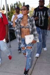 Christina Milian in Ripped Jeans - Out in Los Angeles, April 2015