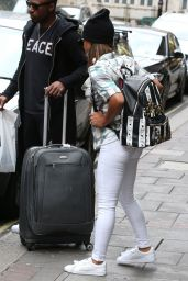 Christina Milian - Leaving the Mayfair Hotel in London, April 2015