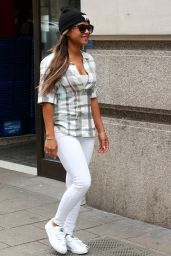Christina Milian - Leaving the Mayfair Hotel in London, April 2015