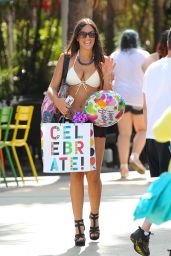 Claudia Romani Hot in White Bikini - Miami, April 2015