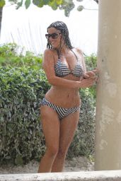 Claudia Romani - Taking a Shower in a Bikini in Miami, April 2015