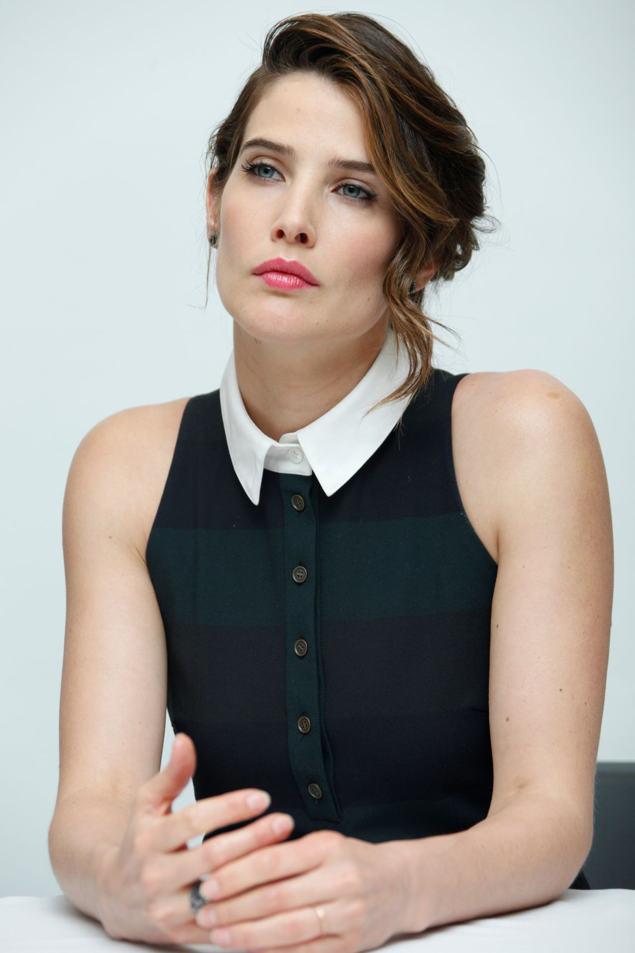 Cobie Smulders Avengers Age Of Ultron Press Conference