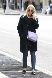 Dakota Fanning Casual Style - Out in NYC, April 2015