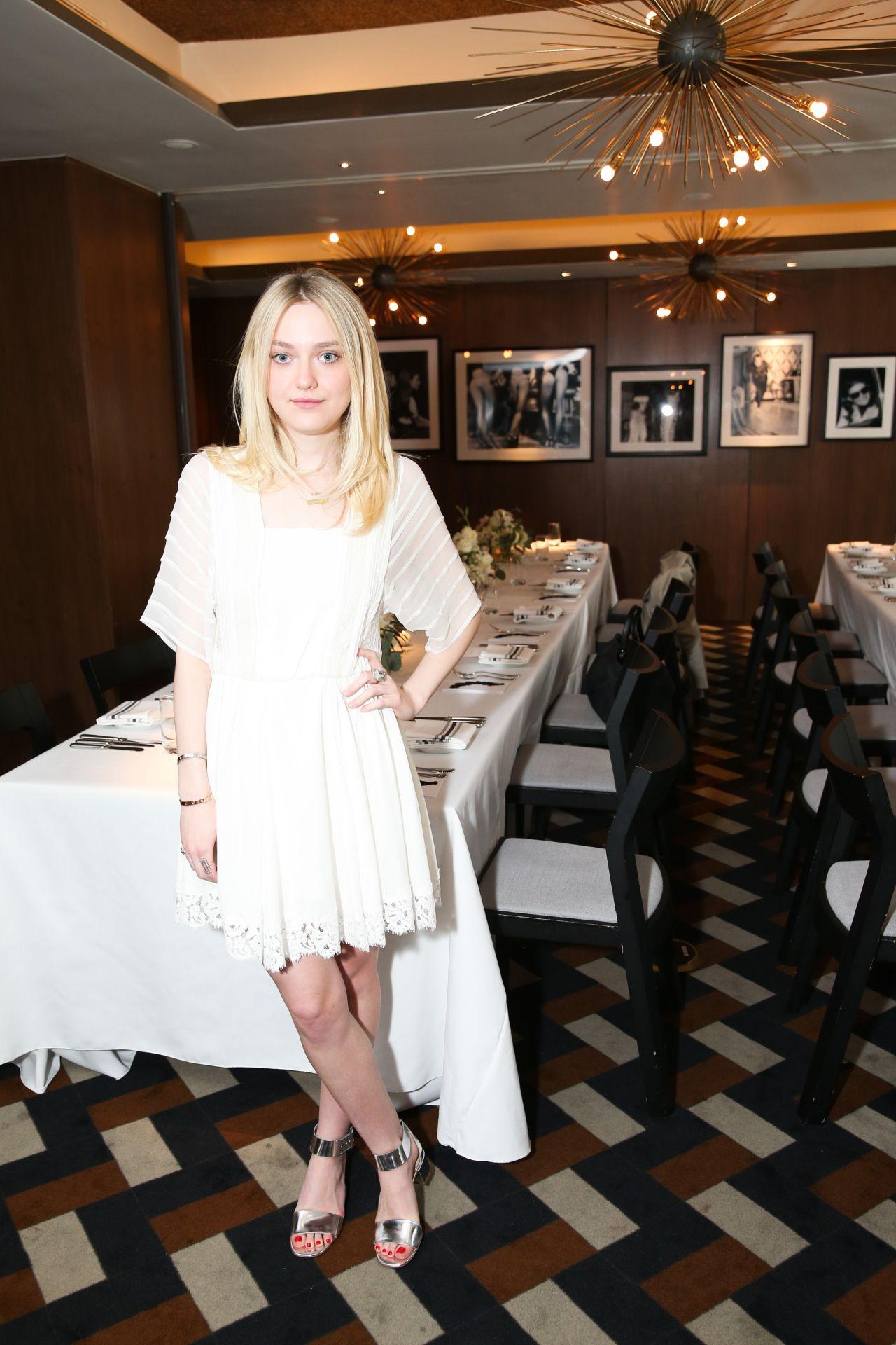 Dakota Fanning - Vogue Celebrates AGL Collection in New York City