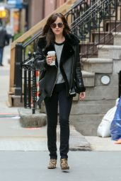 Dakota Johnson Casual Outfit - New York City, April 2015