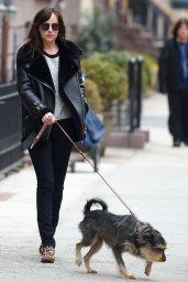 Dakota Johnson Casual Outfit - New York City, April 2015