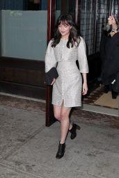 Dakota Johnson Style - Leaving Her Hotel in New York City, March 2015