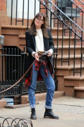 Dakota Johnson - Walking Her Dog in New York City, April 2015